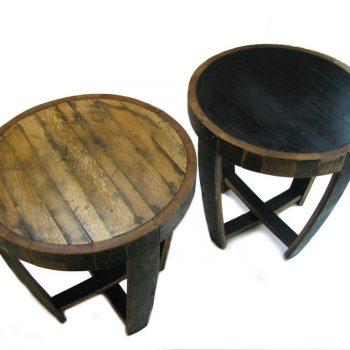 Bourbon Barrel End Table