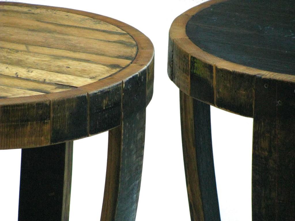Bourbon Barrel End Table Hungarian Workshop