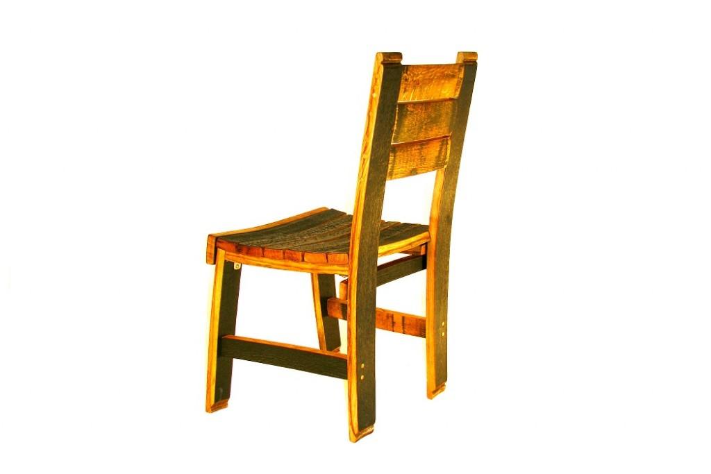 bourbon barrel dining chair