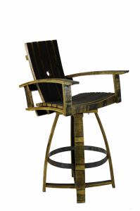 Whiskey Barrel Bar Chair | Hungarian Workshop