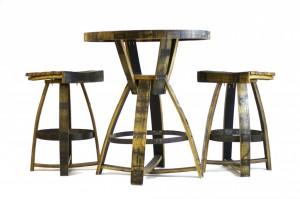 Whiskey Barrel Bar Table | Custom Furniture San Diego