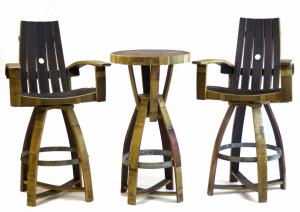 Recycled Wine Barrel Furniture | San Diego Wine Barrel Furniture
