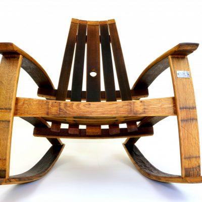 Wine barrel rocking chairs hungarian workshop