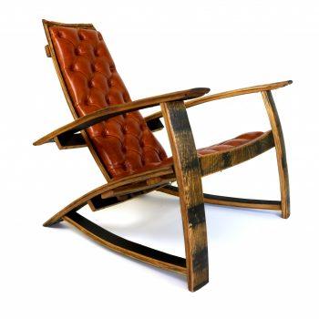 Bourbon Barrel Chair w/ Bourbon Leather