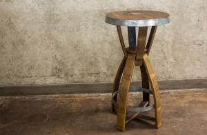 "The ""Snap"" Wine & Bourbon Barrel Pub Tables | San Diego Wine Barrel Furniture"