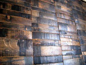 Whiskey Barrel Wall Paneling