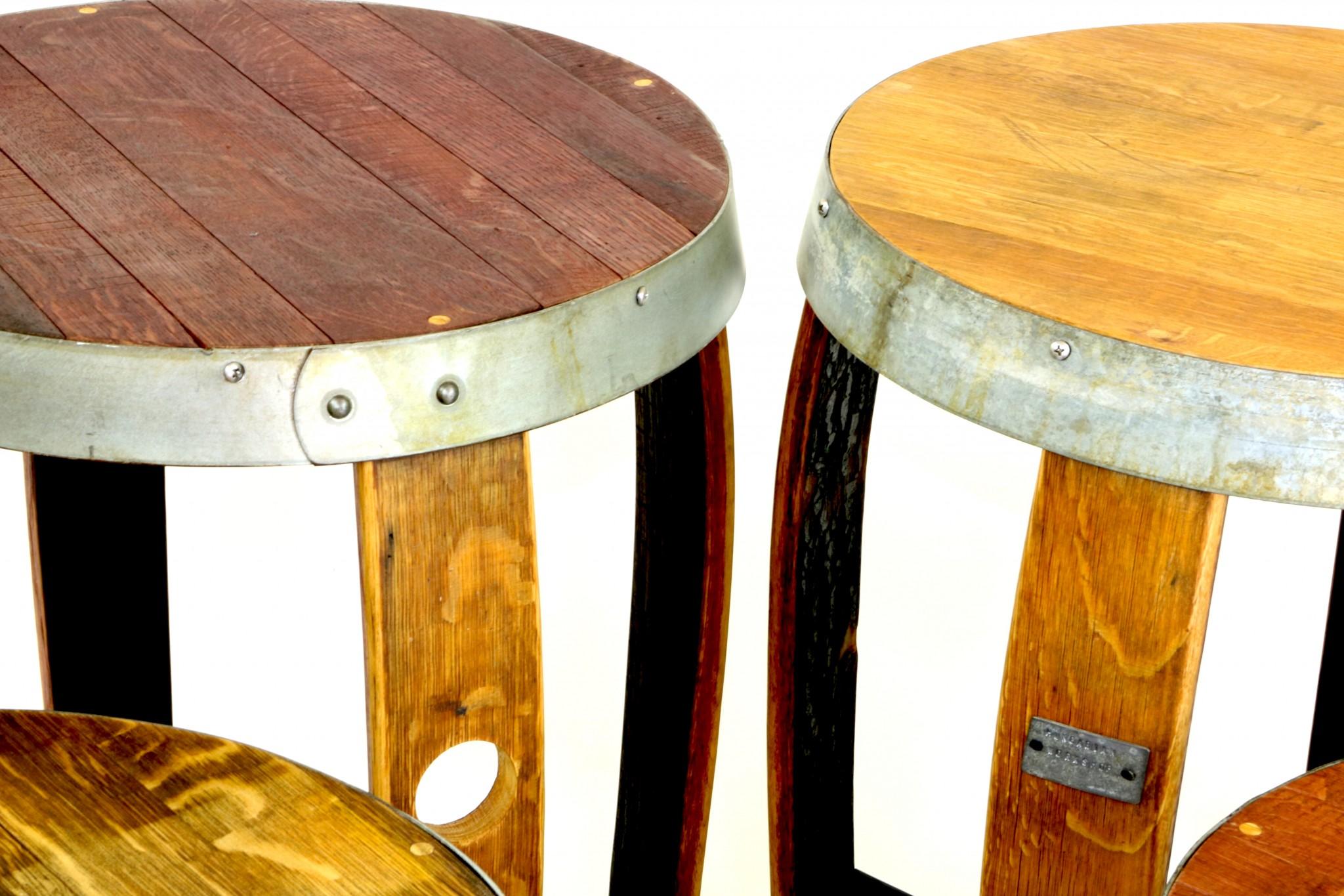 ... Wine Barrel End Table