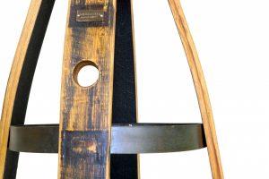 Bourbon Barrel Pub Stool w/ Memory Swivel & Backrest
