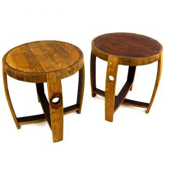 Wine Barrel End Tables